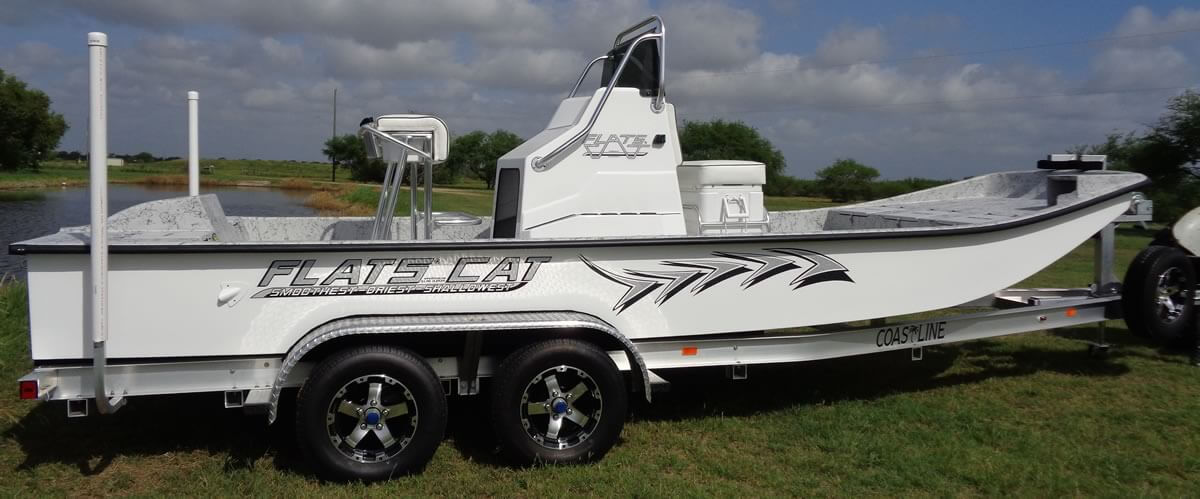 21 foot Flats Cat shallow water catarmaran fishing boat